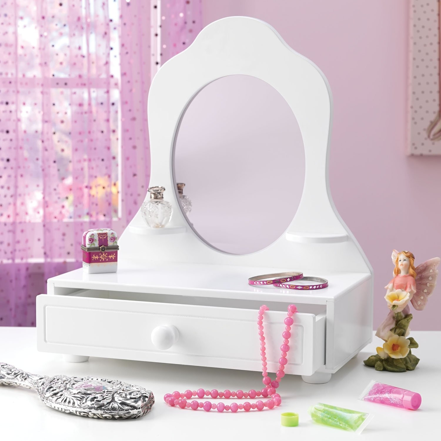 Amazon tabletop vanity with mirror toys games geotapseo Image collections