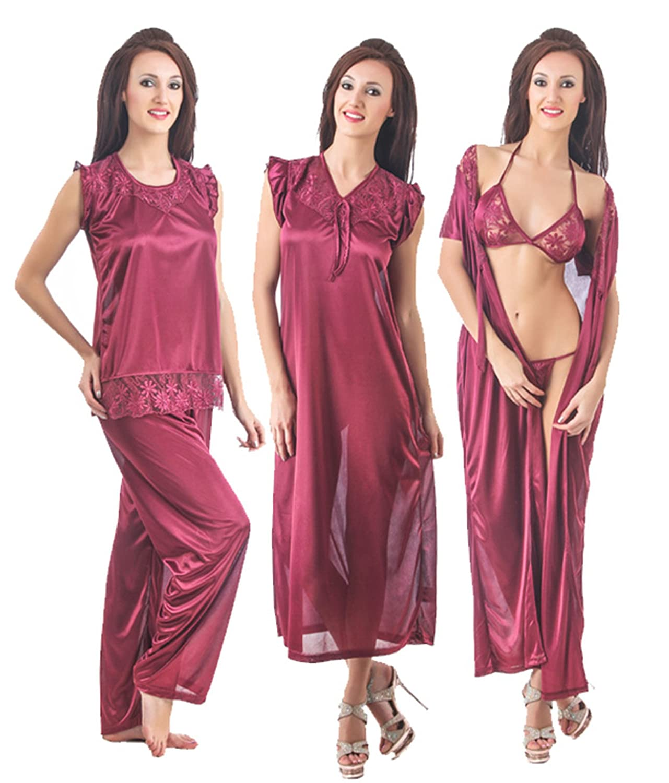 6cdcd86b0b Fasense Womens Satin Nightwear