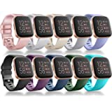 Vancle Bands Compatible for Fitbit Versa/Versa 2 / Versa Lite/Versa SE, Classic Soft Sport Band Strap for Fitbit Versa…