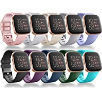 Vancle Bands Compatible for Fitbit Versa Band, Classic Soft Sport Band Strap for Fitbit Versa/Versa Lite/Versa SE/Versa 2 Smart Watch Women Men Small Large