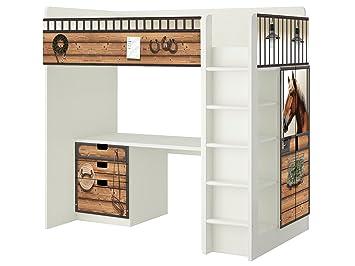 Kinderzimmer ikea hochbett  Pferdestall Möbelfolie - SH13 - passend für die Kinderzimmer ...