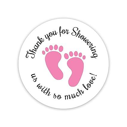 Baby Shower Stickers, Thanks For Showering Us, Girl Boy U0026 Gender Neutral Shower  Stickers