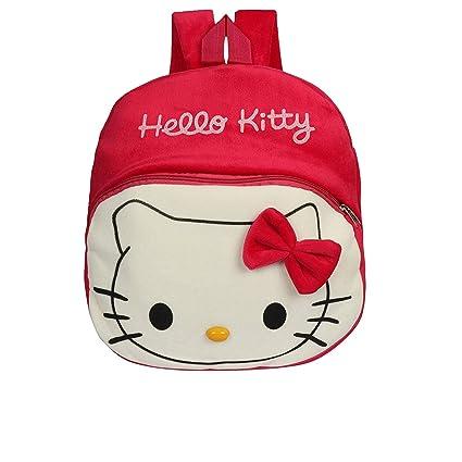 609bf5b2e O Teddy Kid's Plush Hello Kitty School Bag, Pink: Amazon.in: Bags, Wallets  & Luggage