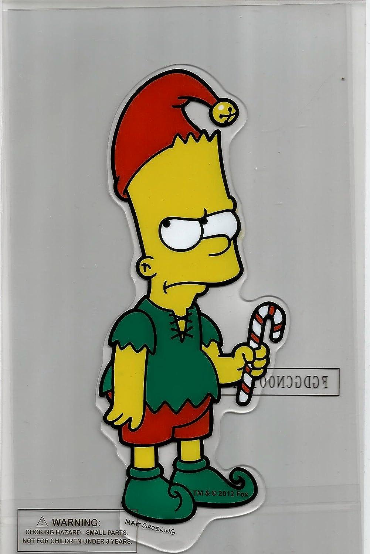 Bart Simpson Christmas Elf Gel Window Cling: Amazon.co.uk: Kitchen ...