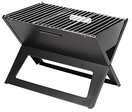 Maharaj Mall Portable Notebook Style X-Shaped Outddor BBQ Barbecue Charcoal Grill Mini Grill