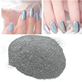 Sindy 2 gram/Jar Shining Laser Silver Nail Powder Holographic Nail Glitter Dust Rainbow Chrome Pigment Manicure Pigments Nail Art Design Decorations
