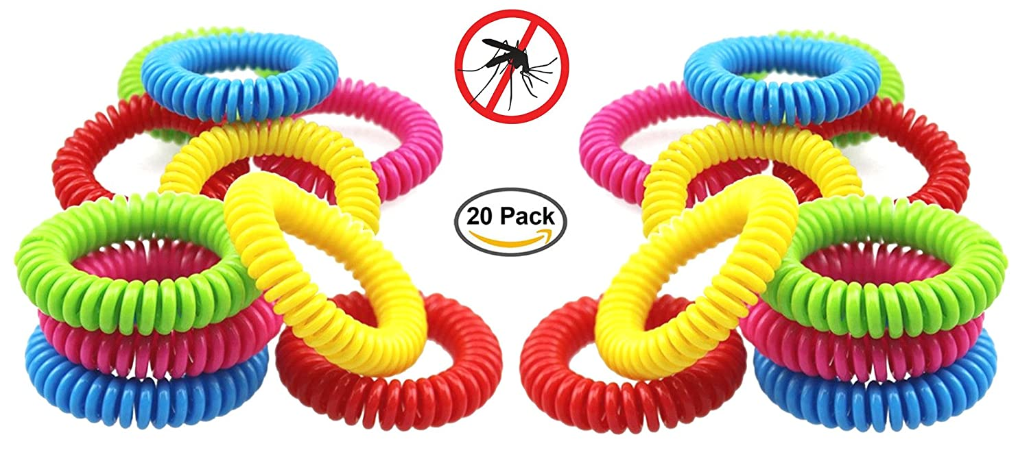 KYWISS Mosquito Repellent Bracelet Bands All Natural, Deet Free Waterproof - Suitable for Children (10 Pack) Polon
