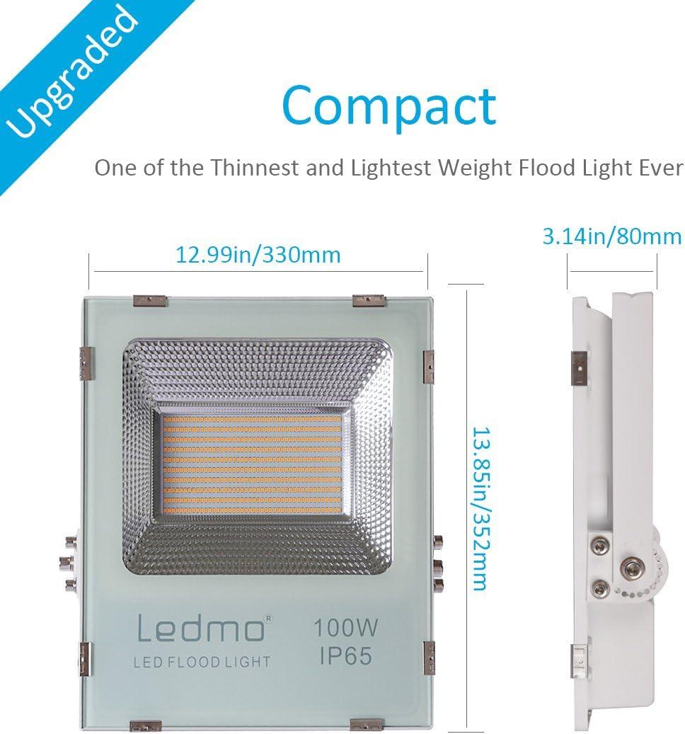 LEDMO foco led 100W,2700K SMD2835 8800LM super brillante focos ...