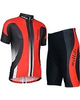 Wellcls 半袖 サイクルジャージ 上下セット サイクルウェア サイクリングウェア 自転車 サイクリング