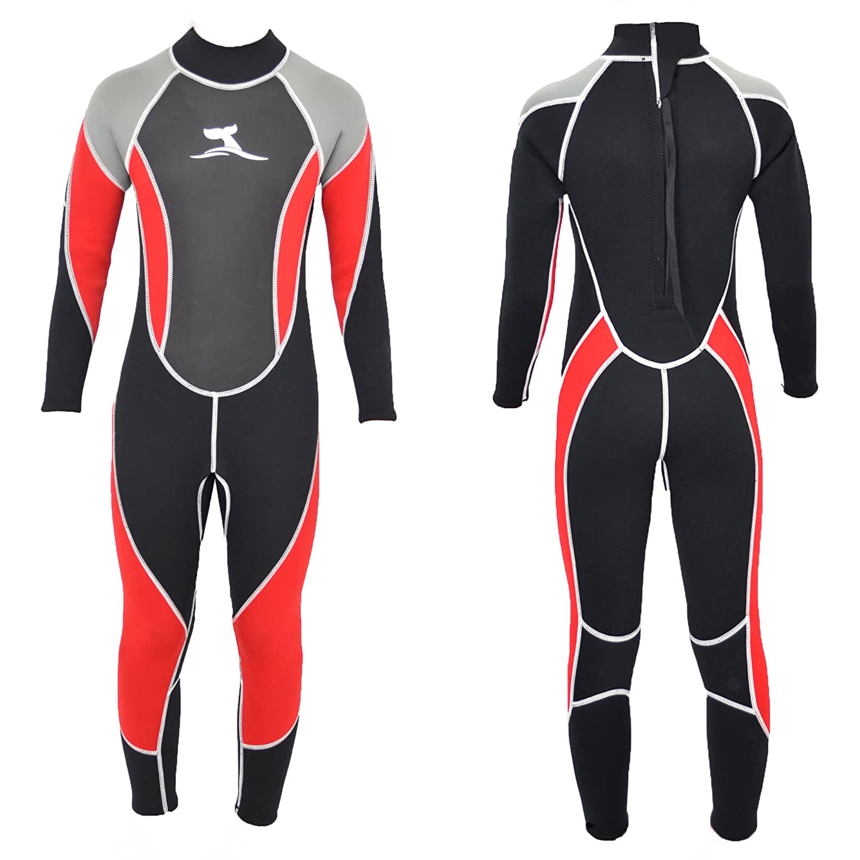 TS-Ideen - Muta lunga da surf e nuoto, da bambino, taglia 8-10 anni, in neoprene con mesh-skin