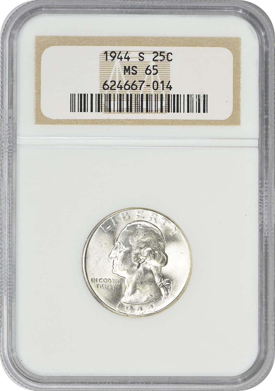 1944-S Washington Quarter MS65 PCGS 65 Mint State