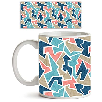 Buy AZ Vintage Triangle Ceramic Coffee Tea Mug White Colour