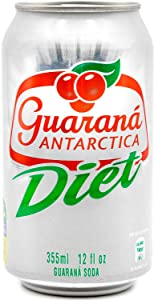 Guaraná ANTARCTICA , Diet Guaraná Flavoured Soft Drink, 355ml (Pack of 12)