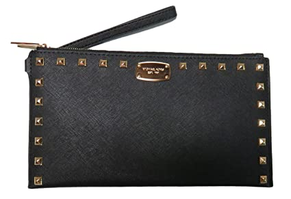 a23c0ce4ec46 Image Unavailable. Image not available for. Colour: New Michael Kors MK  Black Leather Studded Purse ...
