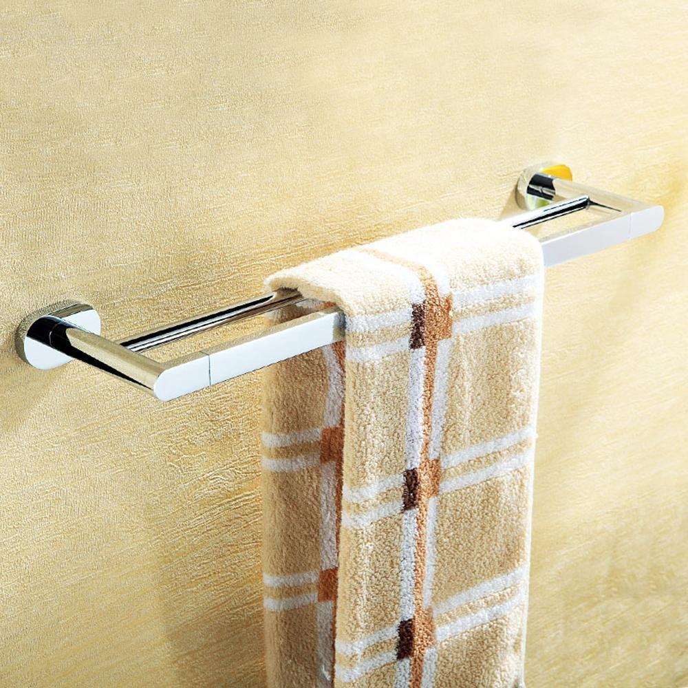 SDKKY Im europäischen Stil einfach und rustikal, Badezimmer Handtuchhalter, verchromt, Double bar Doppel Handtuchhalter