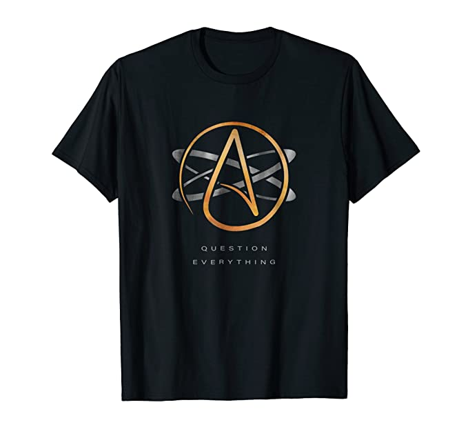 Amazon Atheist Logo Science Atom Symbol Question Everything T