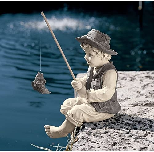 Nessagro Outdoor Garden Statue Frederic Little Boy Fisherman Avignon Decorative Sculpture . GH45843 3468-T34562FD143739