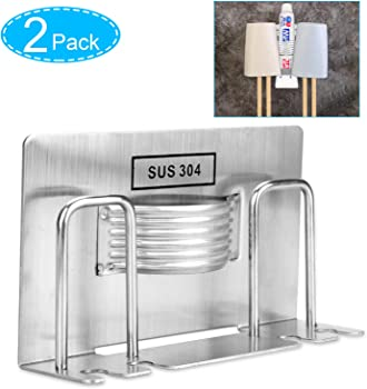 2-Pack Samshow Adhesive Wall Mounted Tooth Brush Holder