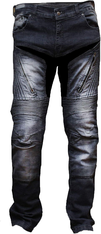 Juicy Trendz Herren Motorradhose Manner Motorradjeans Denim Motorrad Hose Mit Protektoren Bekleidung