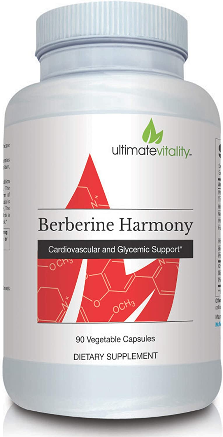 Berberine Harmony – Berberine 500mg with Gynostemma and CoQ10 Ubiquinone Supports Optimal Vascular, Immune and Gastrointestinal Health – 90 Vegetarian Capsules