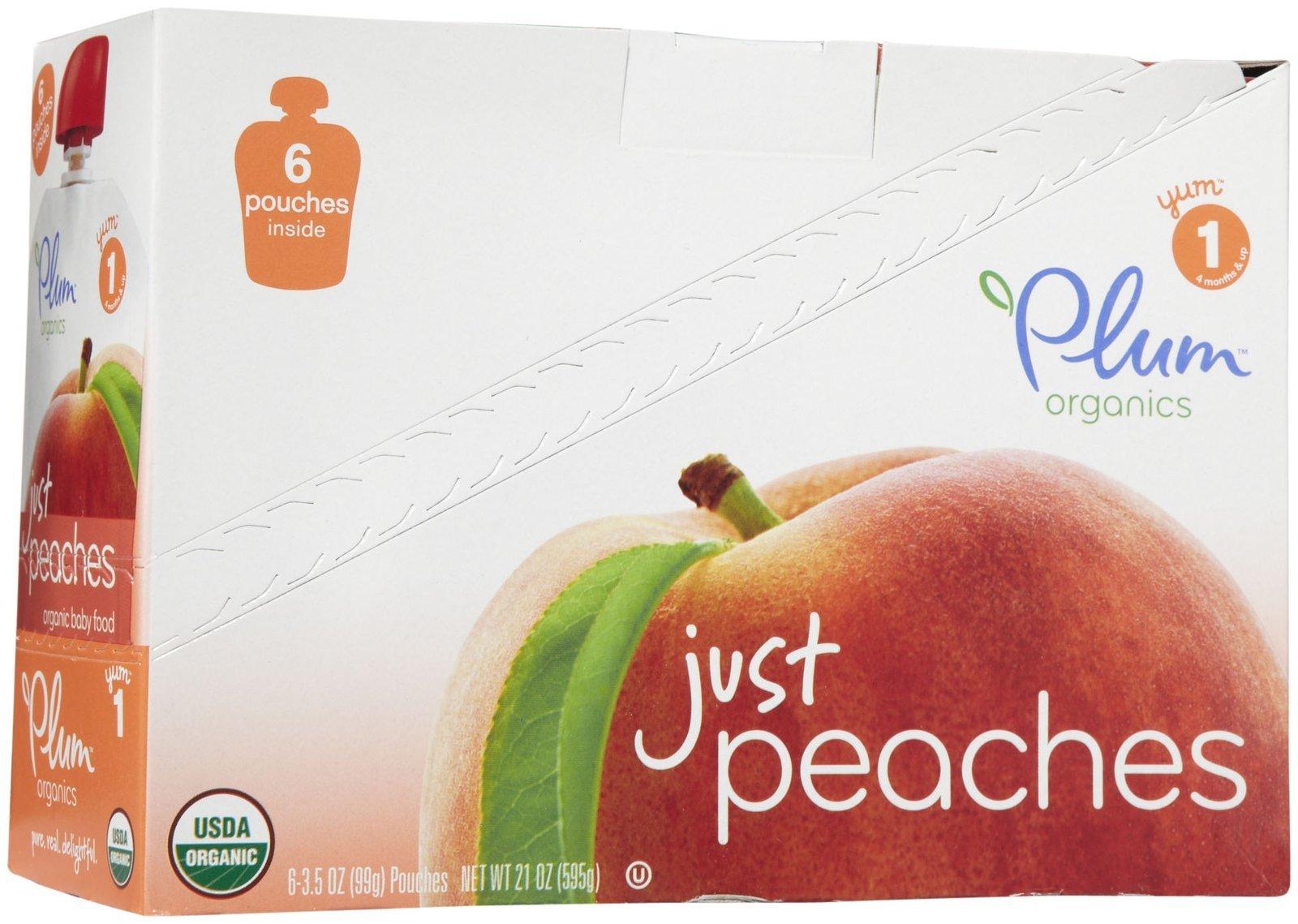 Plum Organics Stage 1 Just Fruit - Peach - 3.5 oz