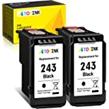 ATOPINK Remanufactured Ink Cartridge 243 Replacement for Canon PG-243 245 (2 Black) Cartridges Work with Pixma TR4520 TR4527