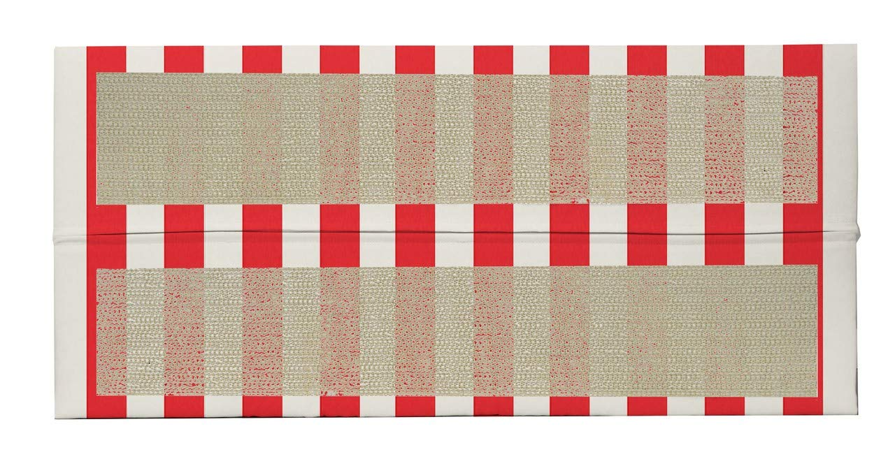 One Indoor//Outdoor Decorative Foam Piano Bench Cushion//Seat Pad Made with Red /& White Cabana Stripe Fabric~ Choose Color RSH D/écor