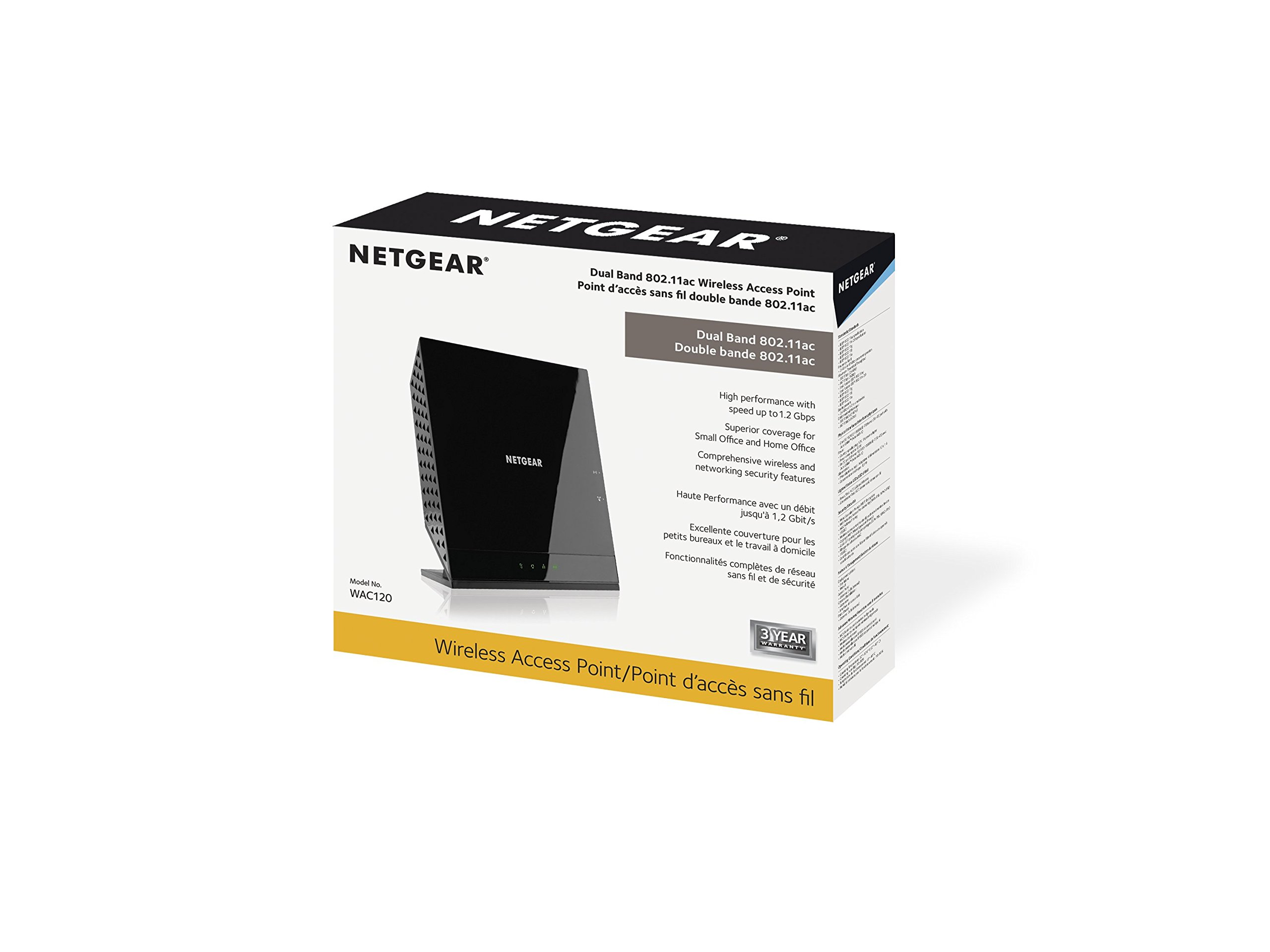 NETGEAR Dual Band 802.11ac Wireless Access Point (WAC120-100NAS)