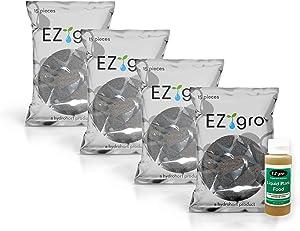 EZ-gro Sponges Compatible with iDOO Hydroponics Growing System (60 Pack/2 oz Hydroponic Fertilizer) | Compatible with iDOO Seed Pods | Grow Sponges for The 7 Pod iDOO Indoor Garden Kit