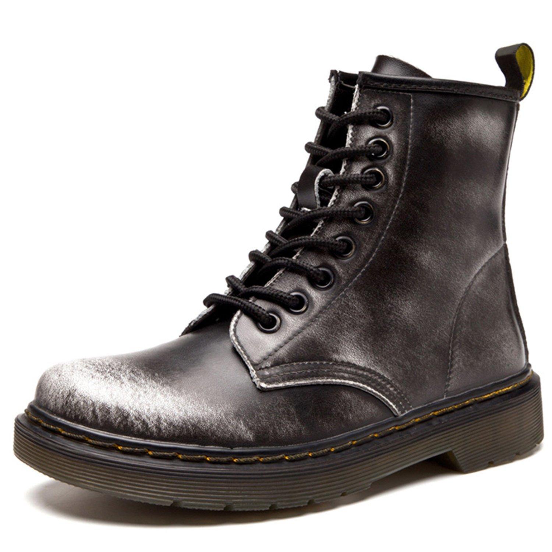 abfa69d5130ef ukStore Botte Femme Hiver Homme Bottes Bottines Plates Fourrées Boots  Chaussures Lacets Classiques Chaudes Impermeables  Amazon.fr  Chaussures et  Sacs