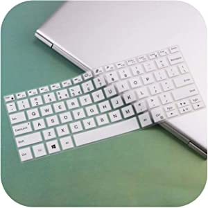 Silicone Keyboard Cover Skin Protector Guard for Acer Swift 3 Sf314 52 Sf314 54 / Swift 1 Sf114 32 14 Inch I5 8250U Notebook -White-