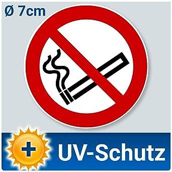 10 Stück Aufkleber Rauchen Verboten ø 7cm Rauchverbot Nichtraucher Piktogramm Uv Schutz Outdoor Geeignet Aussenklebend Für Büro Werkstatt