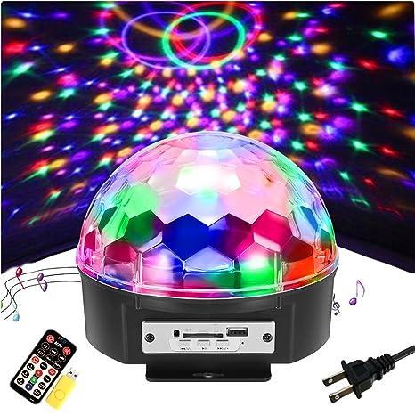 Luces de fiesta de bola de discoteca - SOLMORE 9 Color LED luces ...