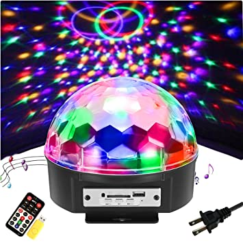 Amazoncom SOLMORE Color LED Disco Ball Party Lights Strobe - Childrens disco lights bedroom