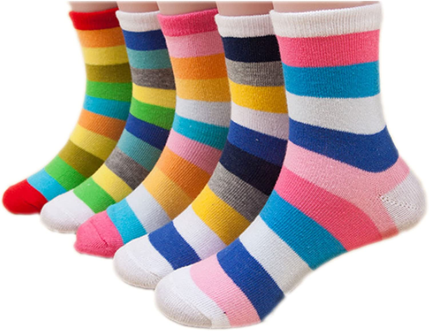 Mengmeng Lovely Boys and Girls variety of Cartoon Car Socks Pack of 5