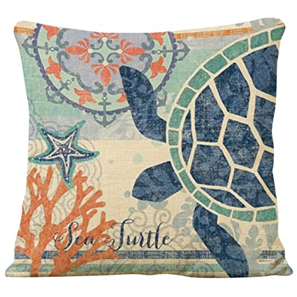Brand new Amazon.com: Famibay Decorative Pillow Cover Ocean Park Theme  LN12