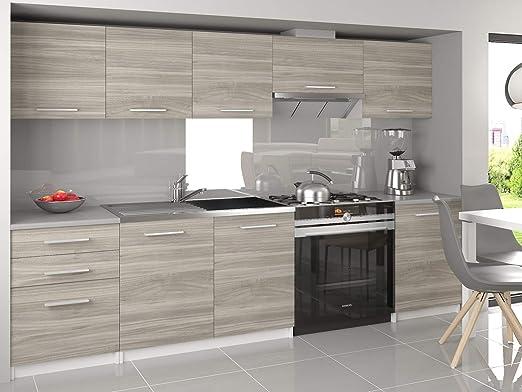 Muebles Cocina Completa,240 cms, Modulos de cocinas ref-06 (Blanco ...