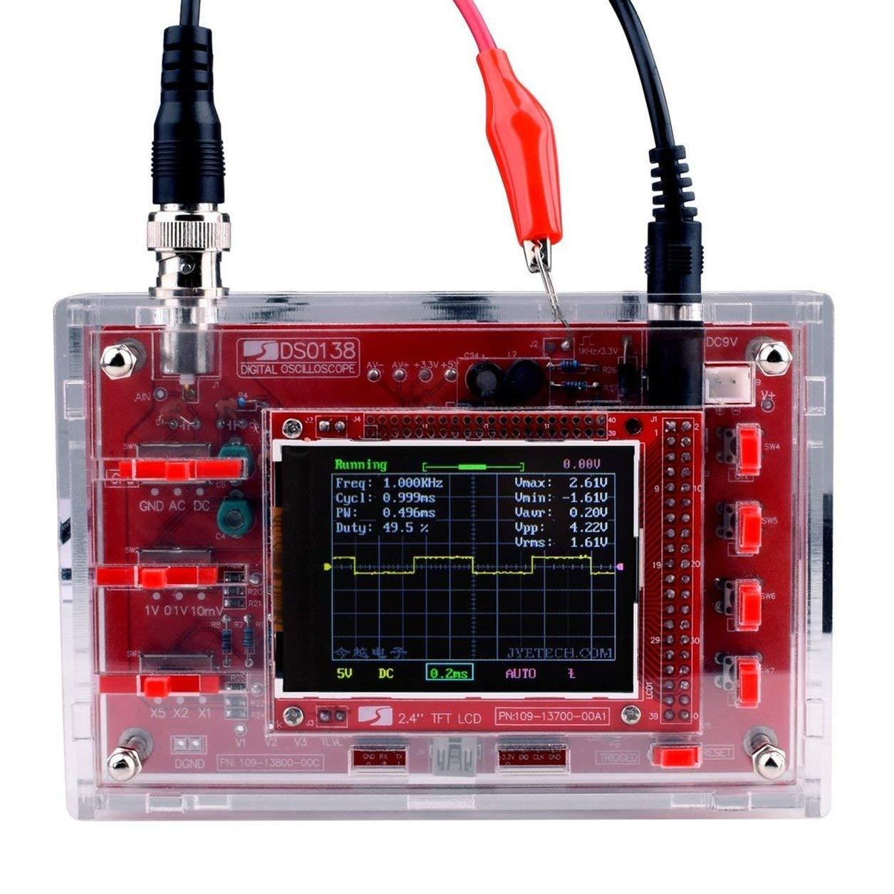 DSO138 2.4 pouces TFT oscilloscope numé rique soudé /kit de piè ces de bricolage/boî tier acrylique Dailyinshop