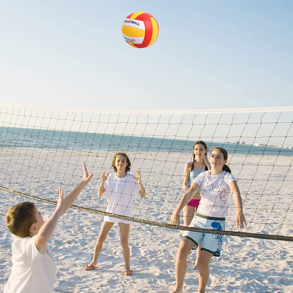 YANYODO Ballon de Beach Volley,Ballon de Volley,Soft Touch pour Adultes et Enfants Taille Officielle 5