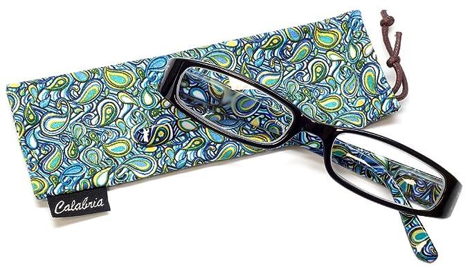 714363f8e65 Amazon.com  Calabria 735 Reading Glasses w Matching Case in Black + ...