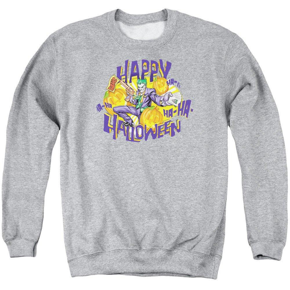 Batman Ha Ha Halloween Adult Crewneck Sweatshirt