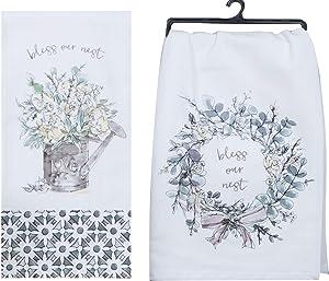 Kay Dee Designs Bless Our Nest Floral Farmhouse Kitchen Towels, Bundle of 2