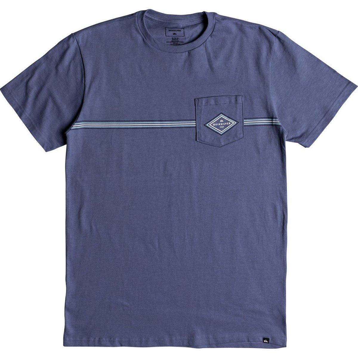 Quiksilver Men's Crosstown Tee Shirt, Bijou Blue, XL