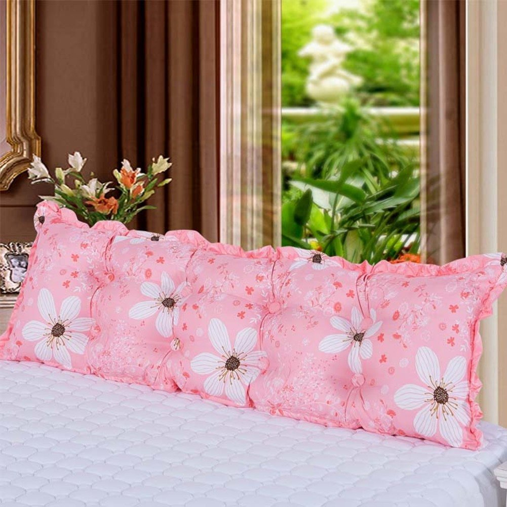 UYHSAUDGHFHE Big Cushion on All Cotton Bed Couple with Double Pillows. Pillow Bed Soft Pack Cushion of Pregnant Women Back Cushion-B