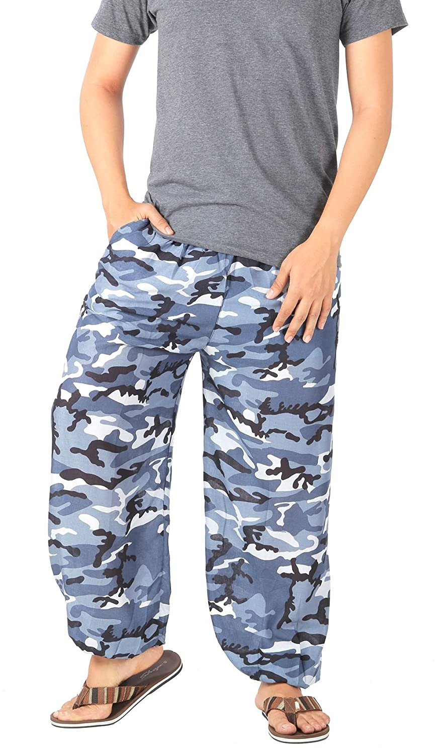 CandyHusky's Women Rayon Casual Baggy Camouflage Pants