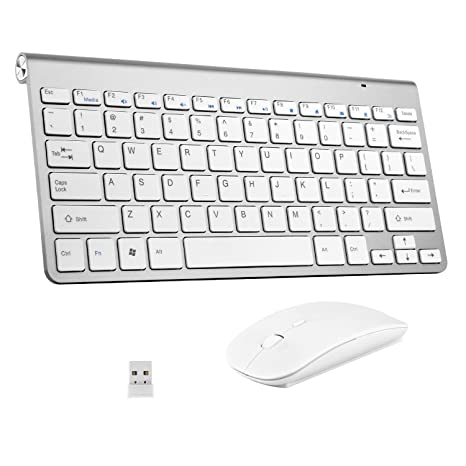 1d6ef32a372 2.4G Mini USB Keyboard with Silent Mouse Combo for Laptop/Desktop/Table and