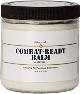 product image for Combat Ready Skin Balm 8oz by Skincando – All Natural - Intensive Moisturizer – Skin Cream - Organic ingredients – Apricot Kernel Oil – Grapefruit Seed Extract – Black Spruce - Black tea Moisturizer