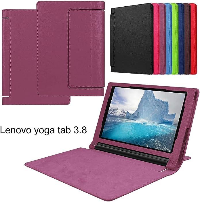 Asng Lenovo Yoga Tab 3 8 Case - Slim Folding Stand Cover Smart Case for 2015 Lenovo Yoga Tab3 8-Inch Tablet (Purple)
