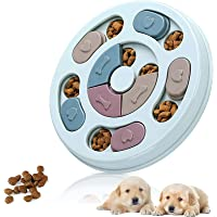 Dog Puzzle Slow Feeder Toy,Puppy Treat Dispenser Slow Feeder Bowl Dog Toy,Dog Brain Games Feeder with Non-Slip, Improve…