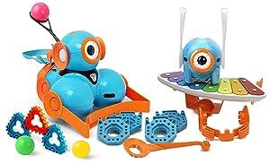 Wonder Workshop – Dot and Dash Robot Wonder Pack for Kids 6+ – Ultimate STEM Learning Bundle – Learn Block-Based Coding – Award-Winning Digital Learning – Hours of Challenges